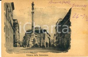 1940 ca ROMA Piazza di Spagna - Colonna della Concezione *Cartolina FP VG