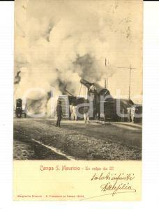 1904 SAN MAURIZIO CANAVESE Campo militare - Colpo da 32 *Cartolina FP VG