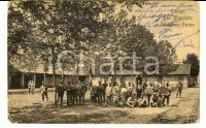 1914 SAN MAURIZIO CANAVESE Campo militare - Padiglione centro *Cartolina ANIMATA