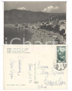 1953 ALASSIO (SV) Veduta della spiaggia *Cartolina Annamaria e Orsino ORSINI FG