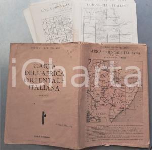 1936 TOURING CLUB ITALIANO Carta Africa Orientale Italiana in 37 fogli