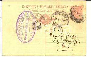 1917 SANREMO Ditta Stefano ERMIGLIA olio d'oliva *Cartolina per spedizione