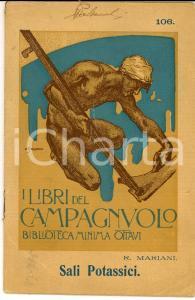 1924 CASALE MONFERRATO Libri del CAMPAGNUOLO Sali potassici Edizione OTTAVI