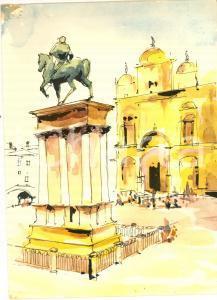 1961 Società Navigazione ADRIATICA Motonave ESPERIA Menù - Monumento a Colleoni