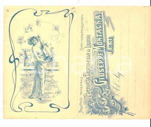 1900 ca JESI (AN) Premiata distilleria Giuseppe MONTAGNA Biglietto pubblicitario