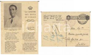 1943 ZONA DI GUERRA Capitano 7° ALPINI Mario TONELLI *Cartolina DUCA DI FERRO