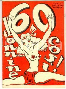 1950 60 DONNINE COSI' Disegnate da ELEFANTE *Libretto anno I n° 1 64 pp.