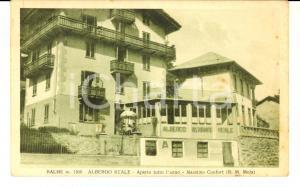 1951 BALME (TO) Albergo Ristorante REALE *Cartolina postale FP VG