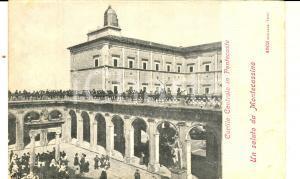 1900 ca Abbazia MONTECASSINO (FR) Cortile Centrale di Pentecoste *Cartolina FP
