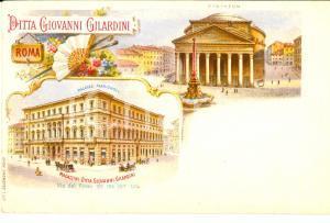 1900 ca ROMA Ditta Giovanni GILARDINI - Vedutine con i magazzini *Cartolina FP