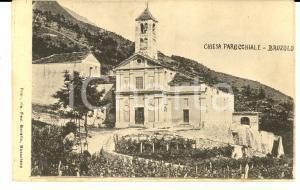 1916 BRUZOLO (TO) Veduta della chiesa parrocchiale *Cartolina postale FP