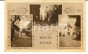 1944 ASCEA (SA) Vedutine con piazza del Littorio *Cartolina RARA FP