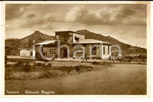 1940 ca DECAMERE' (ERITREA) Ristorante Maggiore *Cartolina DANNEGGIATA RARA