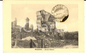 1908 MESSINA TERREMOTO Corso CAVOUR distrutto *Cartolina pro superstiti FP NV