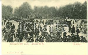 1900 ca FIRENZE Passeggiata delle Cascine - Piazzale del Re *Cartolina ANIMATA