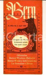 1960 BERN (SUISSE) Offizielles Berner Wochen-Bulletin - Weekly informations