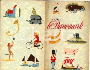 1953 DANEMARK Libretto ILLUSTRATO French *TURISMO VINTAGE 16 pp.