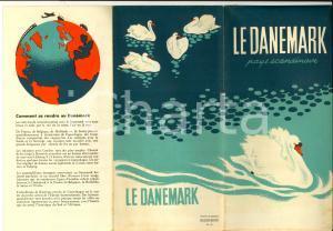 1950 ca DANEMARK Pieghevole ILLUSTRATO con mappa - French *TURISMO VINTAGE