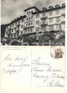 1956 CAULERA (BI) Panoramica ZEGNA *Cartolina autografi Nina ZEGNA Ines GALLO