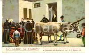 1931 PADOVA Arrivo di S. Antonio moribondo *Cartolina ILLUSTRATA FP VG