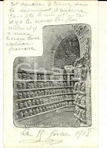 1918 CUSTOZA (VR) Sotterraneo dell'ossario *Cartolina postale ILLUSTRATA ZANNONI