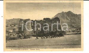 1930 ca SANTO STEFANO D'AVETO (GE) Castello DORIA *Cartolina postaleANIMATA  FP