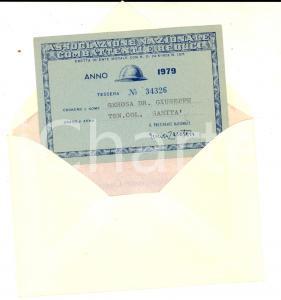 1979 MILANO Associazione Nazionale Combattenti e Reduci - Tessera GEROSA