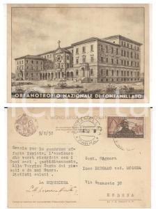 1952 FONTANELLATO (PR) Orfanotrofio *Cartolina firma superiora suor Lorenza