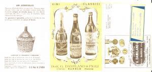 1961 BAROLO (CN) Vini classici DAMILANO - Listino ILLUSTRATO n° 6