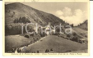 1930 ca CULMINE DI SAN PIETRO Chiesa alla festa SS. Pietro e Paolo *Cartolina