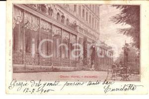 1900 ANDORNO MICCA (BI) Veduta del GRAND HOTEL *Cartolina ILLUSTRATA FP VG
