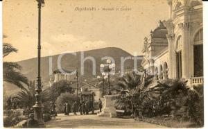 1917 OSPEDALETTI (IM) Visitatori davanti al Casino *Cartolina ANIMATA FP VG
