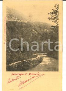 1901 PREMANA (LC) Veduta panoramica *Cartolina postale FP VG