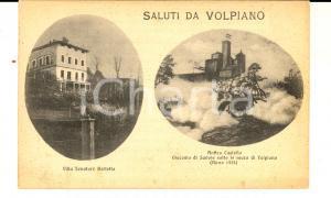 1934 VOLPIANO (TO) Vedutine con castello e villa Senatore BERTETTO *Cartolina