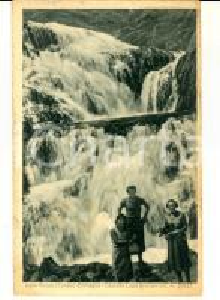 1934 ENTRACQUE (CN) Val di GESSO - Cascata lago BROCAN *Cartolina ANIMATA FP VG