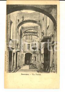 1911 SANREMO (IM) Veduta di Via PALMA *Cartolina postale FP VG