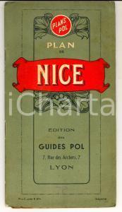 1940 Plan de NICE avec liste des rues - ILLUSTRE' *éd GUIDES POL LYON