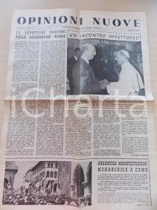 Maggio 1967 OPINIONI NUOVE Manifestazione monarchica a Como *Anno III n° 5
