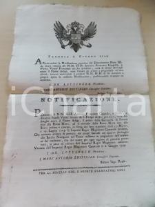 1799 VENEZIA Jus privativo sull'Adige - Antonio CAPPELLO e fratelli VENIER