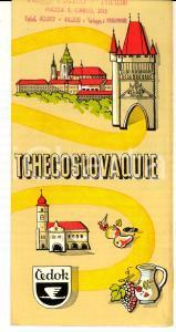 1960 ca TOURISME TCHECOSLOVAQUIE Brochure ILLUSTREE VINTAGE