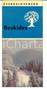 1960 TCHECOSLOVAQUIE - Les BESKIDES *Brochure ILLUSTREE VINTAGE