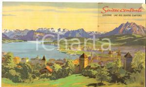 1960 ca SUISSE CENTRALE - LUCERNE et Lac des Quatre-Cantons *Brochure ILLUSTREE