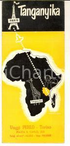 1960 ca TANGANICA/ TANZANIA Dépliant illustrato français *VINTAGE TURISMO