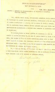 1945 P.M. 155 Gruppo LEGNANO 332° Ospedale da Campo - Lettera Luigi GALLO