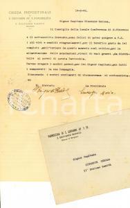 1945 SAN GIOVANNI BIANCO Ringraziamenti per aiuti ai poveri *Maria SONZOGNI