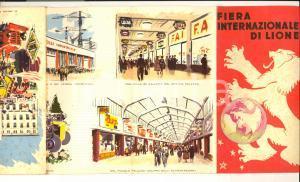 1960 ca FIERA INTERNAZIONALE DI LIONE Pieghevole illustrato A. BRENET *VINTAGE