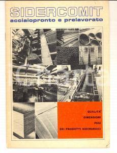 1970 ca MILANO Ditta SIDERCOMIT Acciaio pronto e prelavorato *Catalogo 24 pp.