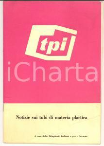1960 ca SARONNO TURBOPLASTIC ITALIANA Notizie sui tubi di materia plastica 22 pp