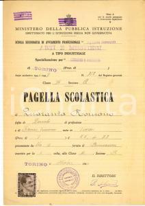 1947 TORINO Scuola avviamento arti e mestieri - Pagella Romano QUARANTA