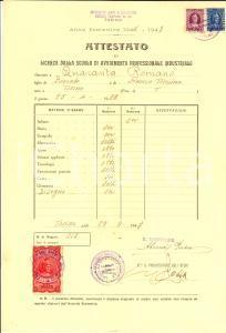 1947 TORINO Scuola avviamento arti e mestieri - Licenza Romano QUARANTA